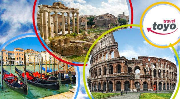 Nezabudnuteľný 5-dňový zájazd do historického Ríma a romantických Benátok s Toyo travel