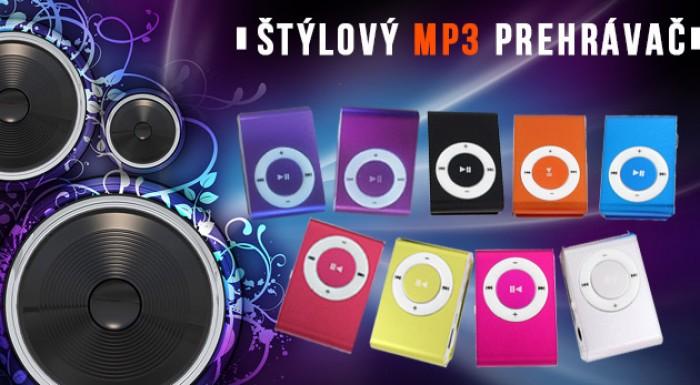 MP3 prehrávač v 9 rôznych farbách