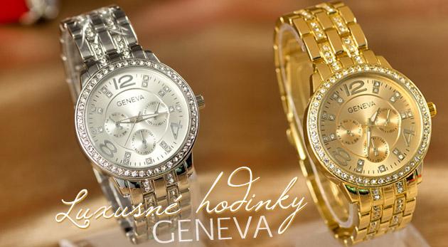 Luxusné hodinky značky Geneva v troch farbách ... f88d59f84be