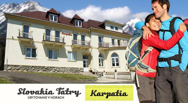 Načerpajte novú silu vo Vysokých Tatrách. Ubytovanie s polpenziou v Penzióne Karpatia.