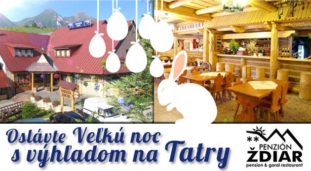 Veľkonočný šesťdňový pobyt v Penzióne Ždiar s polpenziou, aperitívom a balíčkom zliav. Oslávte Veľkú noc v Tatrách.