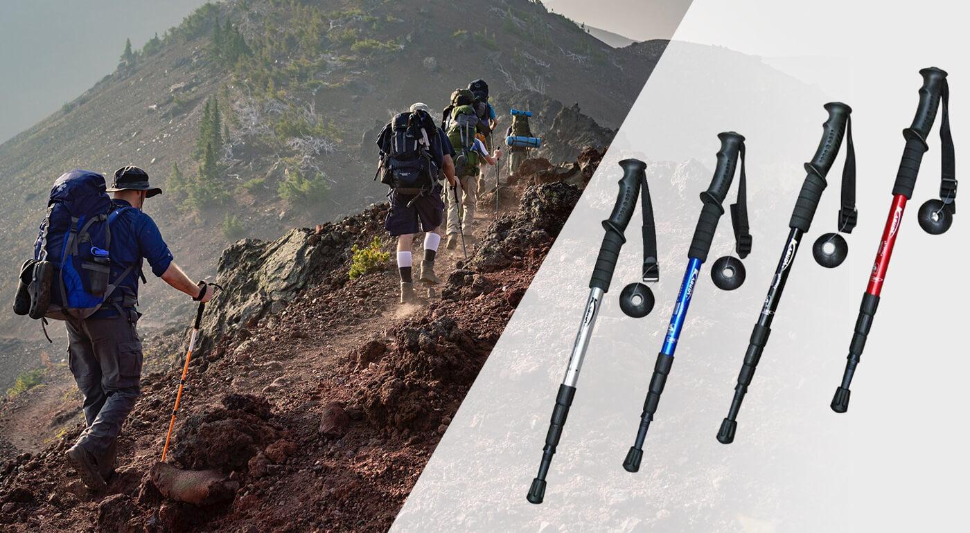 Teleskopické palice s antishock systémom pre lepší oddych a istejší krok počas pobytu v prírode aj počas letných prechádzok