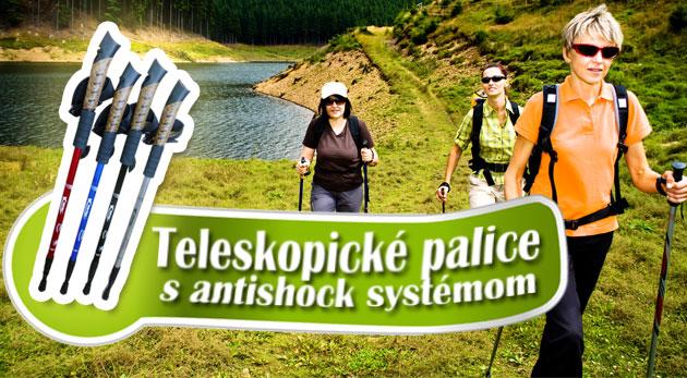 Fotka zľavy: Trekingové teleskopické palice už od 7,89€. Nedoceniteľná turistická pomôcka do každého terénu. Na výber 2 typy v rôznych farbách. Možnosť osobného odberu v centre Bratislavy.