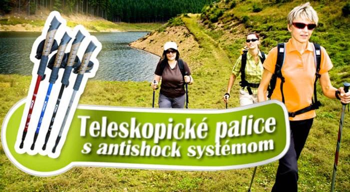 Fotka zľavy: Trekingové teleskopické palice už od 8,99 €. Nedoceniteľná turistická pomôcka do každého terénu. Na výber 2 typy v rôznych farbách. Možnosť osobného odberu v centre Bratislavy.