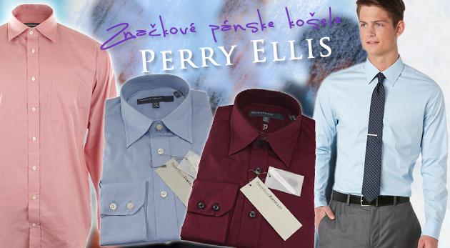 84c7dc4c634c Značkové pánske košele Perry Ellis klasické i manžetové + manžetové gombíky  Swarovski za polovicu! Zľava
