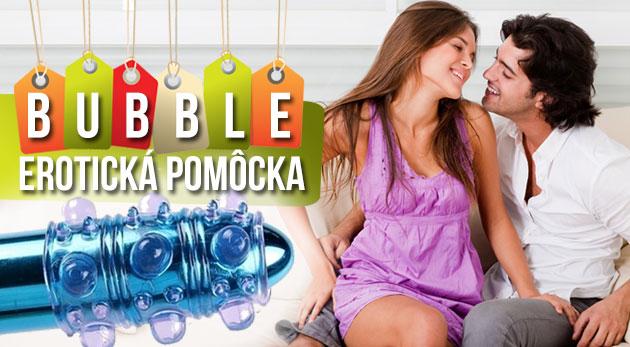 Erotická pomôcka - návlek na penis BUBBLE s bublinkovými výstupkami pre zvýšenie pôžitku. Bonus 3+1 zadarmo!