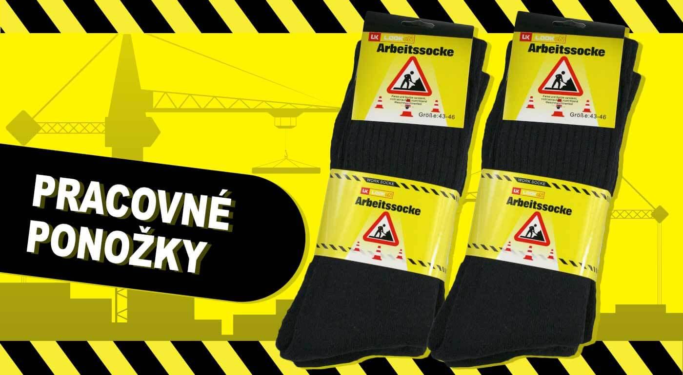 Pracovné ponožky z bavlny pre vaše pohodlie. Výberová kvalita pre dámy aj pánov - mix 3 párov!