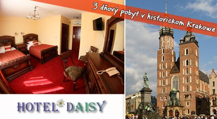 3 dni v *** hoteli v Krakowe - príjemný oddych s dávkou romantiky v historickom meste Krakow.