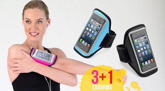 Puzdro na mobil alebo mp3 s pútkom na pripevnenie - praktická pomôcka nielen pre športovcov. Akcia 3+1 zadarmo!