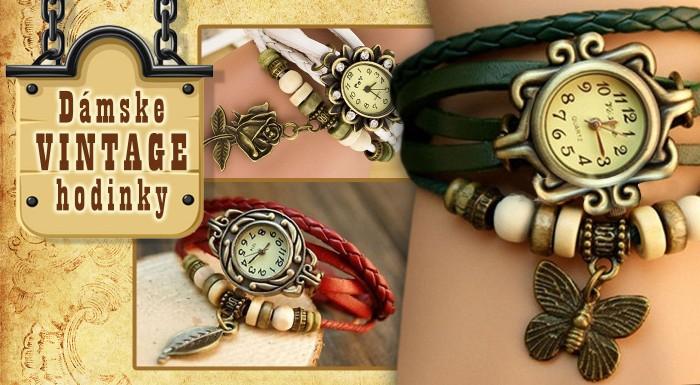 Fotka zľavy: Dámske hodinky s remienkom v štýle VINTAGE