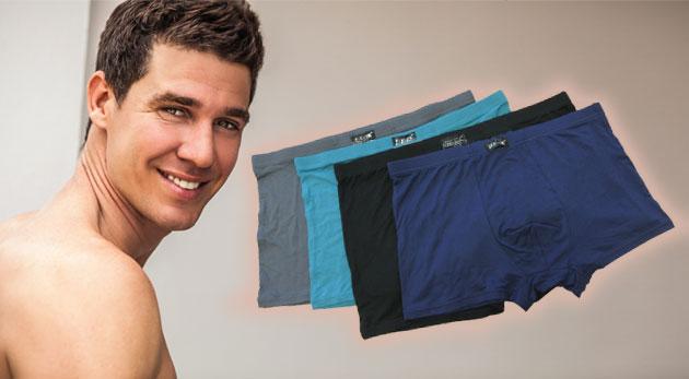 Kvalitné pánske bambusové boxerky - farebný mix 2 ks spodného prádla pre pohodlie každého muža