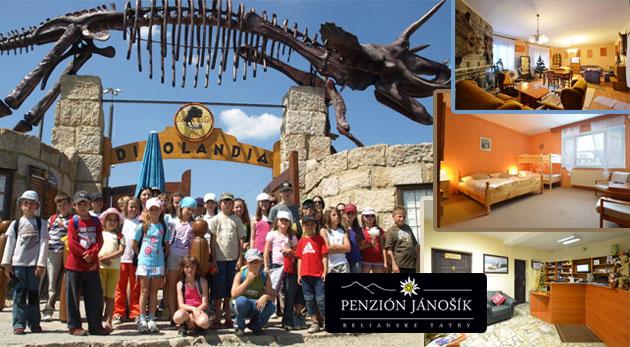 8 dňový detský pobytový prázdninový tábor v Belianskych Tatrách - Po stopách Tatranských dinosaurov.
