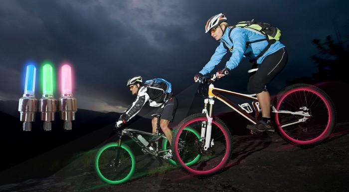 Fotka zľavy: LED svetlo na bicykel alebo motorku len za 4,50€. Získajte neprehliadnuteľný farebný efekt kolies a viac zábavy na vašich cestách.