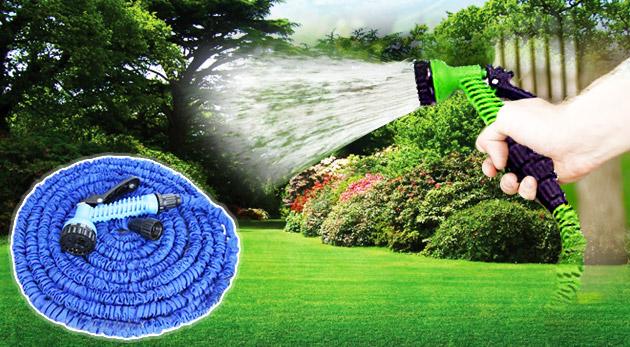 Fotka zľavy: Praktická elastická hadica v štyroch rôznych dĺžkach od 10 do 30 m so siedmimi typmi trysiek už od 10,90€. Aby bola práca v záhrade ešte väčšou vášňou!