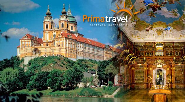 Dychvyrážajúca návšteva renesančného zámku Schallaburg a opátstva v Melku v Rakúsku známeho z románu Meno ruže