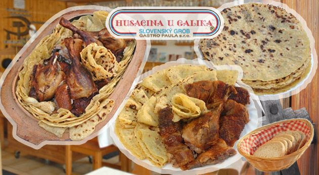 Kačacie alebo husacie hody v Reštaurácii u Galika pre akýkoľvek počet osôb s možnosťou ubytovania