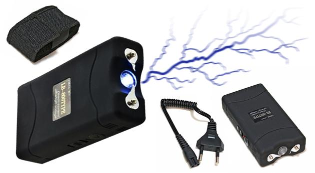 Účinný a jednoducho použiteľný paralyzér so svetlom v puzdre pre maximálnu bezpečnosť