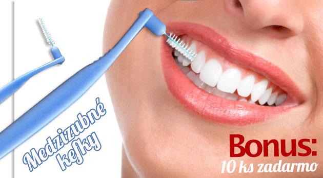 Medzizubné kefky - 20 kusov pre žiarivý úsmev a zdravé zuby. BONUS: Pri kúpe 3 kupónov získate 10 kefiek zadarmo!