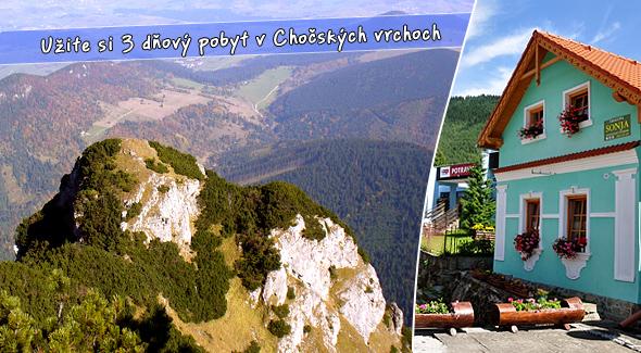 3 dňový pobyt v Chočských vrchoch v pôvodnom roľníckom dome z roku 1902.