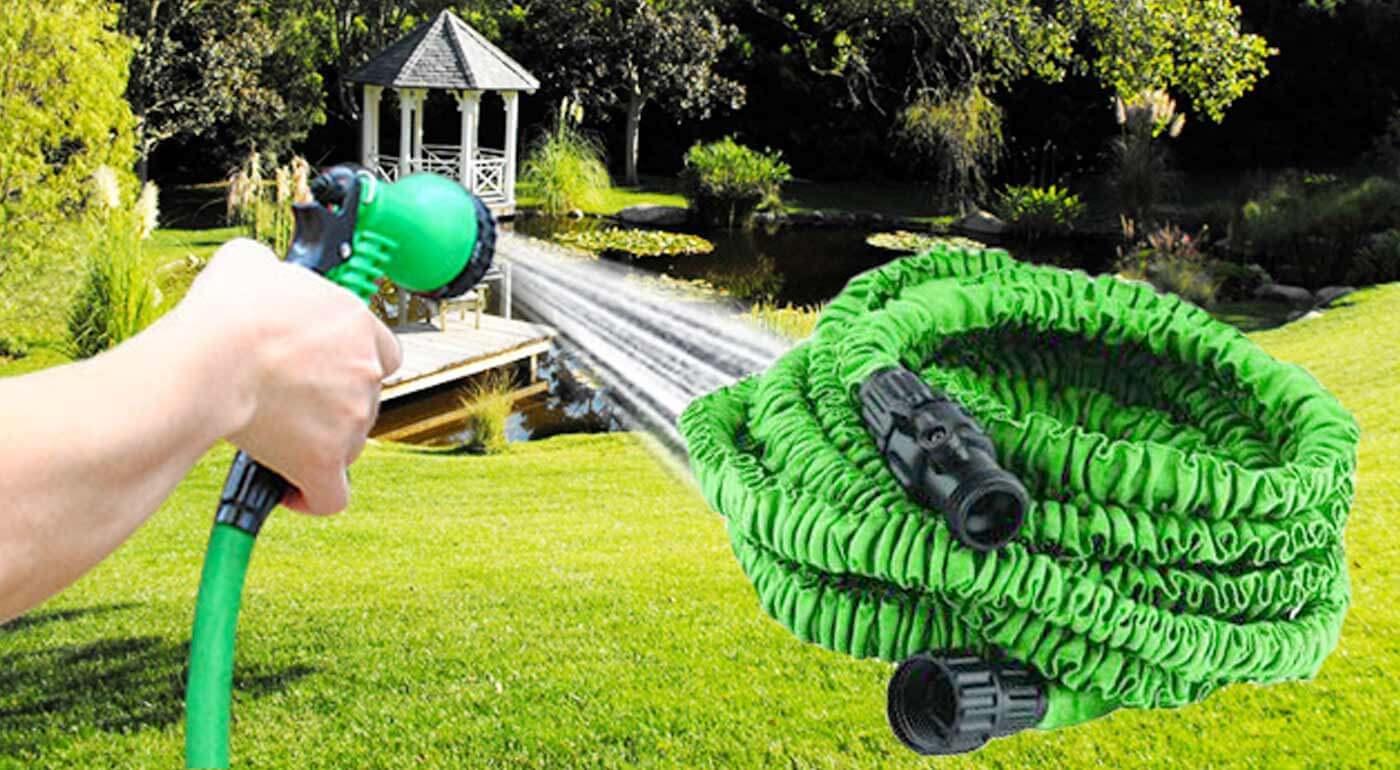 Fotka zľavy: Praktická elastická hadica v troch rôznych dĺžkach od 15 do 30 m so siedmimi typmi trysiek už od 11,90€. Aby bola práca v záhrade ešte väčšou vášňou! Na výber tiež vo viacerých farbách!
