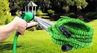 Zľava 58%: Praktická elastická hadica v troch rôznych dĺžkach od 15 do 30 m so siedmimi typmi trysiek už od 11,90€. Aby bola práca v záhrade ešte väčšou vášňou! Na výber tiež vo viacerých farbách!