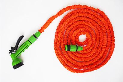Elastická záhradná hadica, dĺžka 15m, oranžová farba