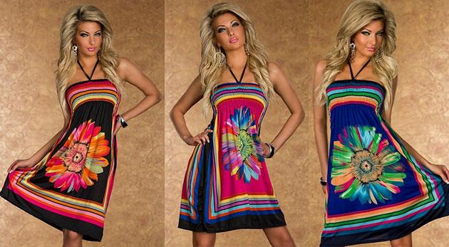 fe53fb4d5 Pôvabné dámske šaty na leto s kvetinovým vzorom v troch farbách