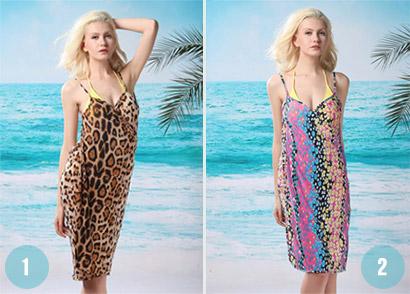 Plážové zavinovacie šaty  b782e6069f