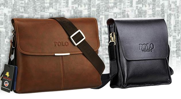 08168542be Elegantné pánske kožené tašky POLO na cesty do mesta i za mesto