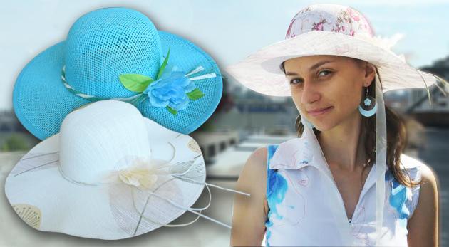 a6e99f860 Dámsky letný klobúk s kvetinovou ozdobou