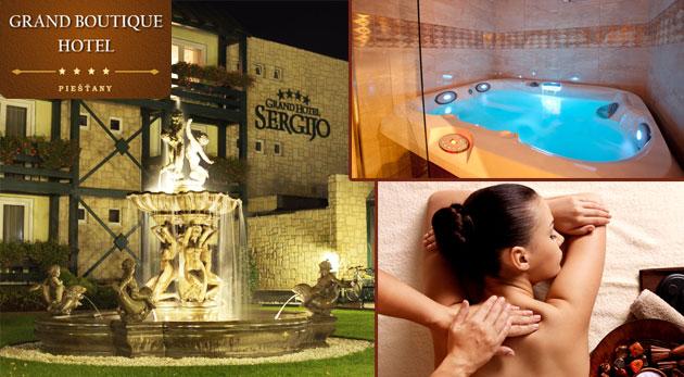 Fantastické tri letné dni pre dvoch v elegantnom GRAND BOUTIQUE HOTEL SERGIJO**** v Piešťanoch