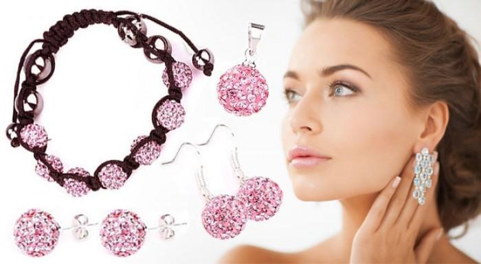 7-dielny set žiarivých šperkov