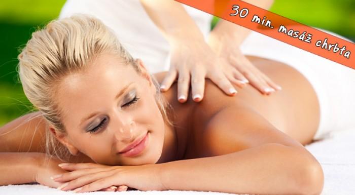Klasická masáž chrbta - kvalitný polhodinový relax.