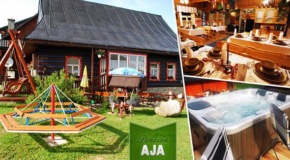 Wellness Penzión AJA - relax a oddych v Belianskych Tatrách. Dieťa do 5,99 rokov zadarmo!