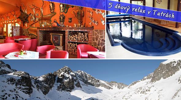 Zimný pobyt v Tatrách na 5 dní - polpenzia, bazén, sauna, wellness i tanečný večierok až 50% zľava.