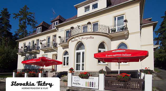 Pobyt pre všetkých vášnivých turistov v Penzióne Karpatia vo Vysokých Tatrách. Platnosť až do konca októbra!
