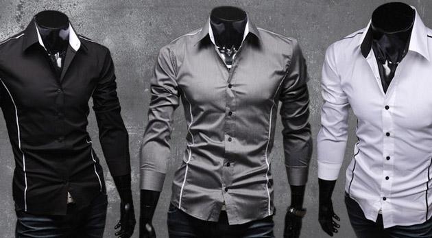 376860c5bd76 Sexi pánska slim-fit košeľa s dlhým rukávom pre zvýraznenie mužnosti