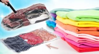 Zľava 50%: Vákuové vrecia v rôznych veľkostiach - balenie 4 ks alebo až 6 ks za bezkonkurenčnú cenu už od 5,70€ aj s poštovným a balným. Ušetrite až 75% miesta vo vašej skrini pri skladovaní nadbytočných vecí.