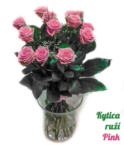 Kytica ruží Pink