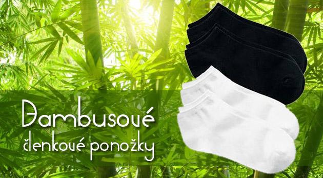 Členkové bambusové ponožky - neprekonateľný komfort pri nosení
