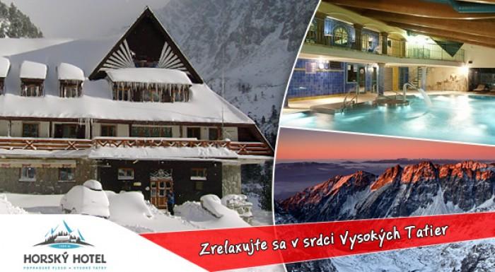 3 dni priamo na Popradskom Plese vo Vysokých Tatrách v Horskom hoteli* Popradské Pleso + wellness