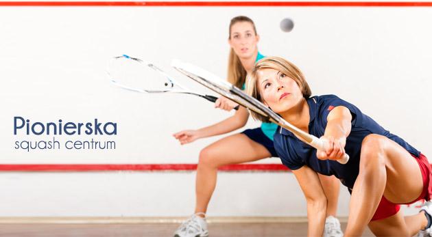 Hodina squashu a dva iontové nápoje v SquashCentre Pionierska v Bratislave