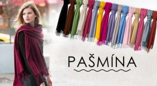 Zľava 63%: Úžasná kašmírová šatka - pašmína pre dokonalosť vášho outfitu. Možnosť osobného odberu v Bratislave.
