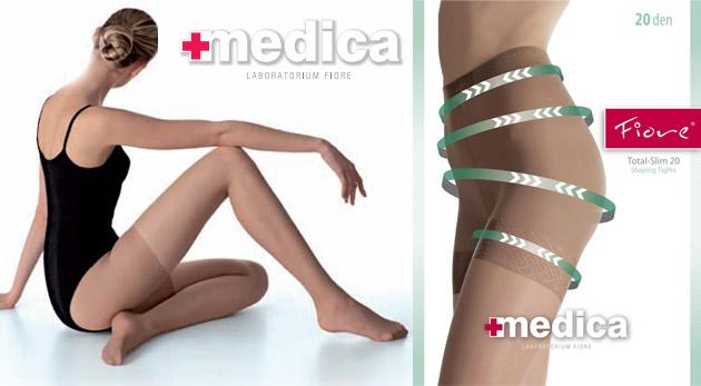 Luxusné sťahujúce značkové pančušky značky FIORE, kolekcie Medica - vytvorte si trojbalenie podľa seba.