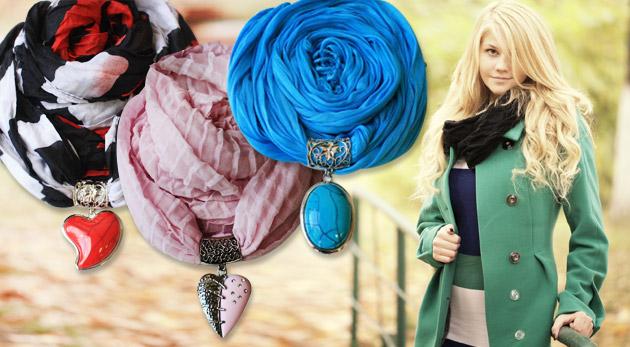 Elegantná dámska šatka s príveskom nápaditých tvarov - až 18 rôznych druhov!