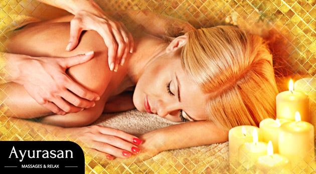 Úchvatná celotelová masáž v štúdiu Ayurasan MASSAGES & RELAX v centre Bratislavy