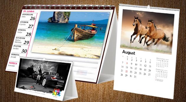 Fotka zľavy: Originálny darček s kreativitou bez hraníc! Vytvorte si vlastný fotokalendár stolový alebo nástenný už od 5,50€ s možnosťou vytvárať rôzne typy pozadia, rámčekov, úprav fotiek i vlastného textu!