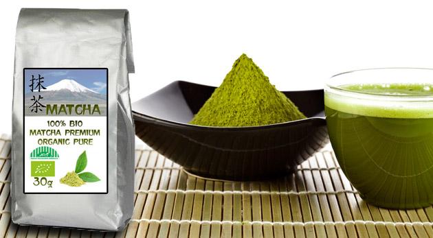 Zelený japonský čaj 100% BIO MATCHA premium organic pure - superpotravina na všetko!