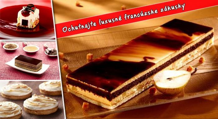 Luxusné francúzske zákusky vyrobené z prvotriednych surovín