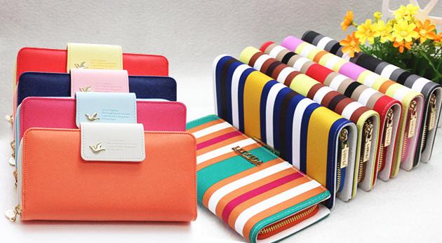 69ec7d3bf4 Elegantné koženkové peňaženky - farebnosť a pásiky sú in!